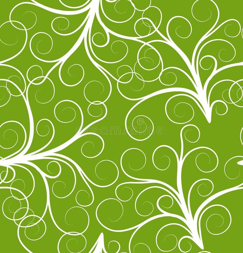 Teste padrão sem emenda verde da planta ilustração stock
