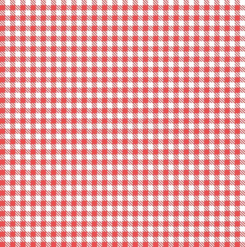 Teste padr?o sem emenda vermelho e branco do guing?o fotografia de stock royalty free