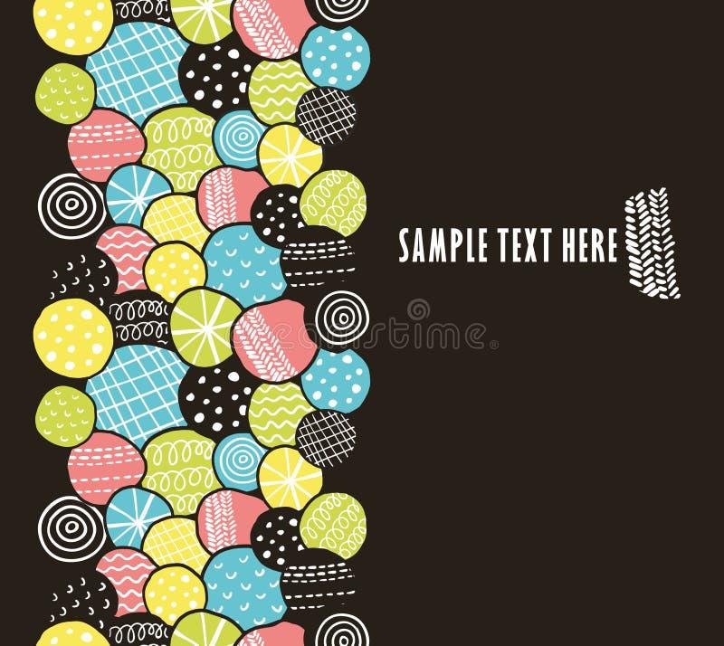 Teste padrão sem emenda vertical com círculos decorativos ilustração royalty free