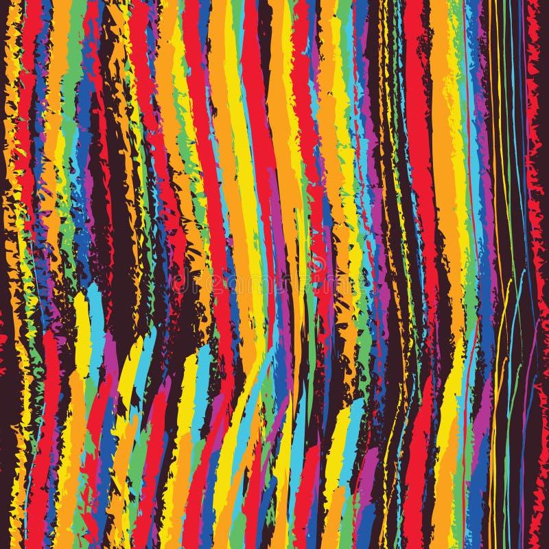Teste padrão sem emenda vertical do giz do arco-íris ilustração do vetor