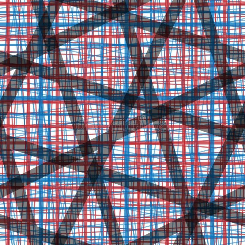 Teste padrão sem emenda vertical e angeled horizontal da textura de linho de imitação das listras ilustração do vetor