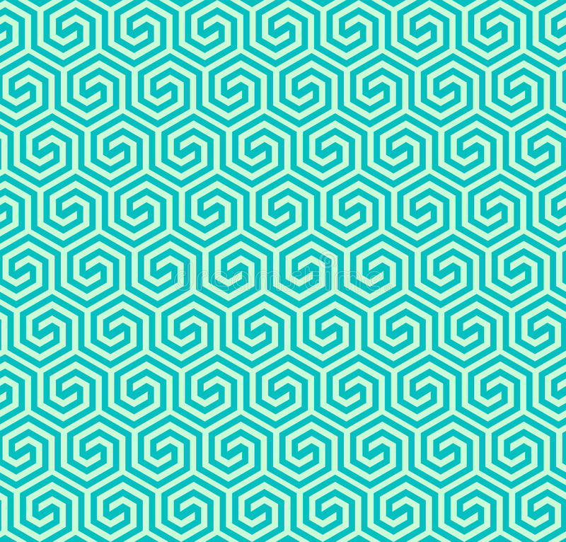 Teste padrão sextavado geométrico abstrato sem emenda - vector eps8 ilustração royalty free
