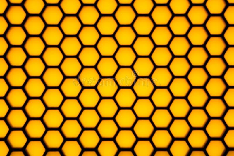 Teste padrão sextavado obscuro da geometria foto de stock