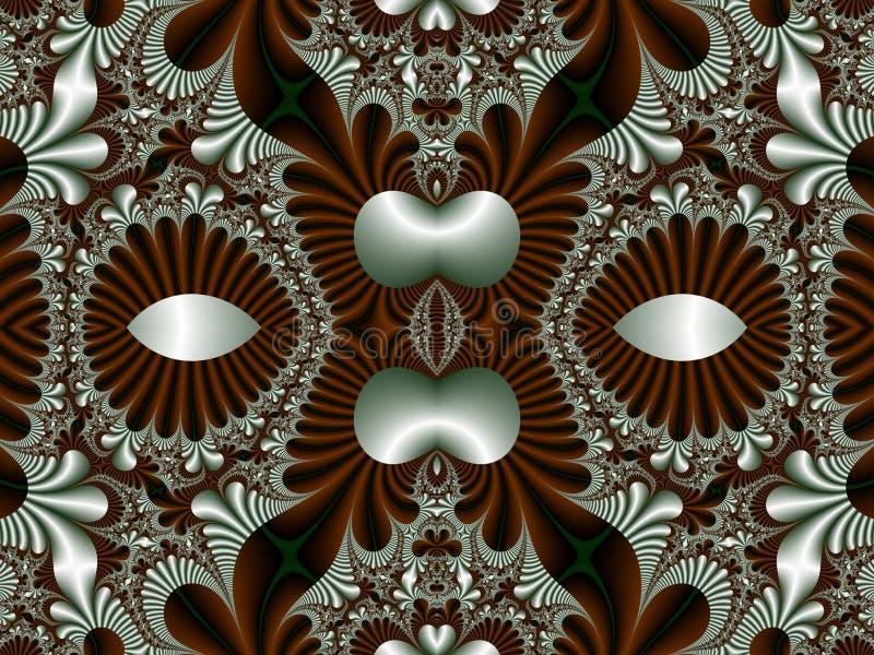 Teste padrão simétrico fabuloso para o fundo Coleção - Magica ilustração stock