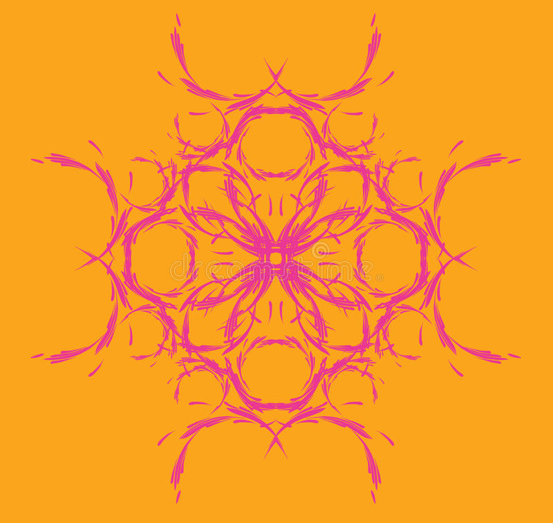 Teste padrão simétrico, floral imagens de stock royalty free