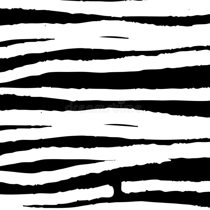 Teste padrão simples abstrato do grunge, cursos da escova, garrancho Projeto universal, arte da parede ilustração stock