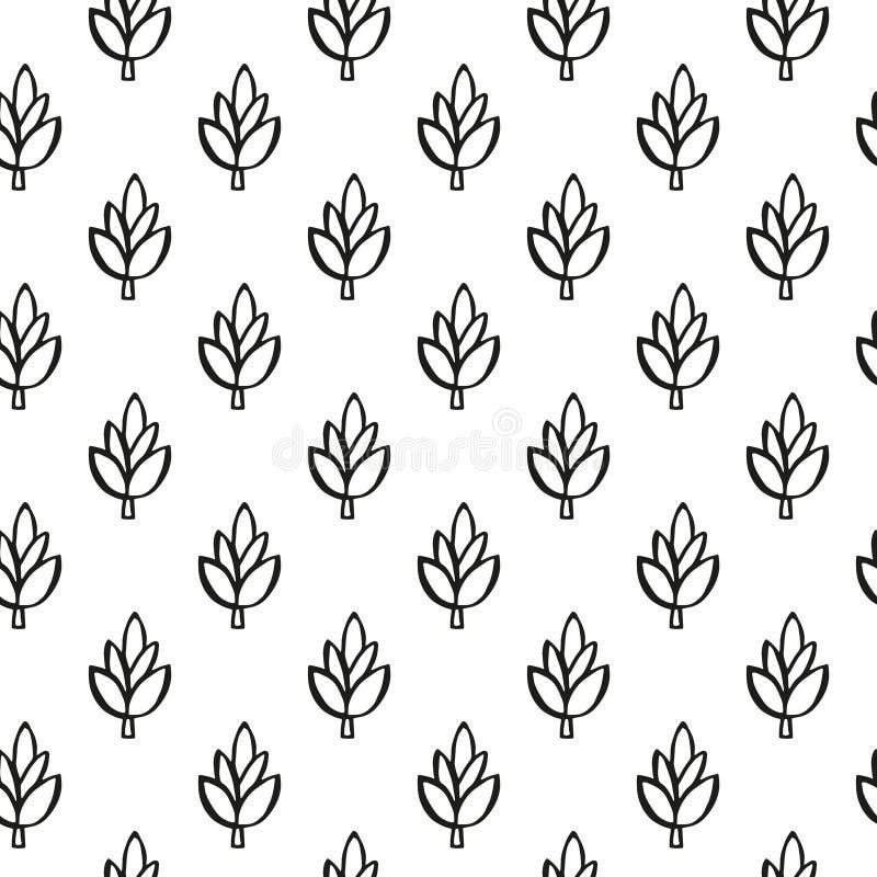 Teste padrão simples da planta fotografia de stock