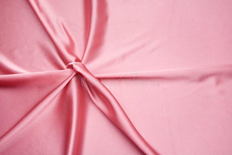 Teste padrão simples do cetim cor-de-rosa foto de stock
