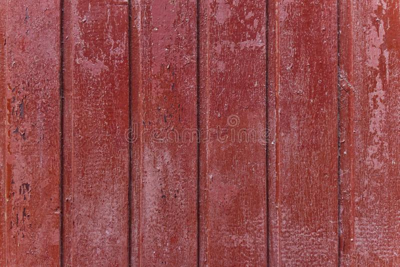 Teste padrão simples do fundo da foto de pranchas de madeira vermelhas imagem de stock royalty free
