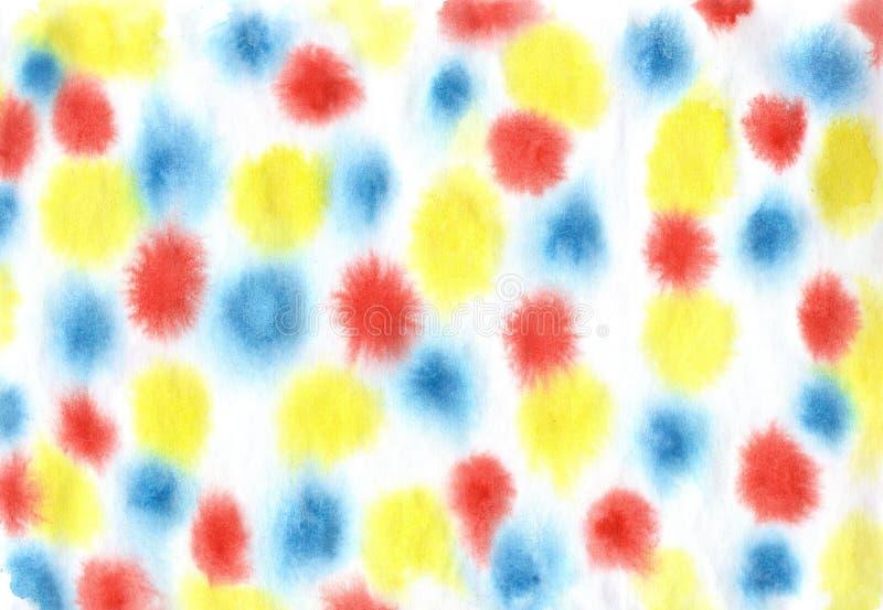 Teste padrão spoted colorido Manchas brilhantes no branco ilustração do vetor
