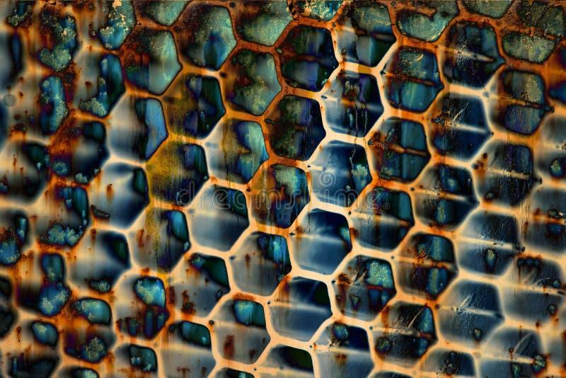 Teste padrão sujo da textura do metal fotografia de stock