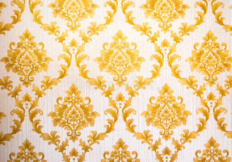 Teste padrão tailandês Art Golden Lai Thai Background e textura do papel de parede tradicional tailandês foto de stock royalty free