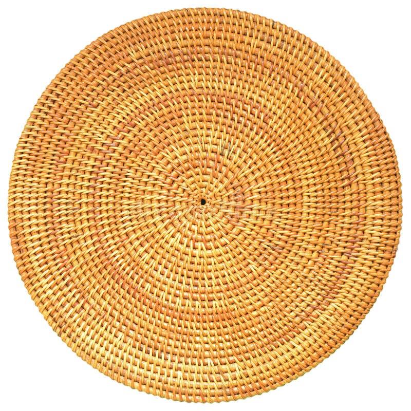 Teste padrão tecido redondo do Rattan imagens de stock