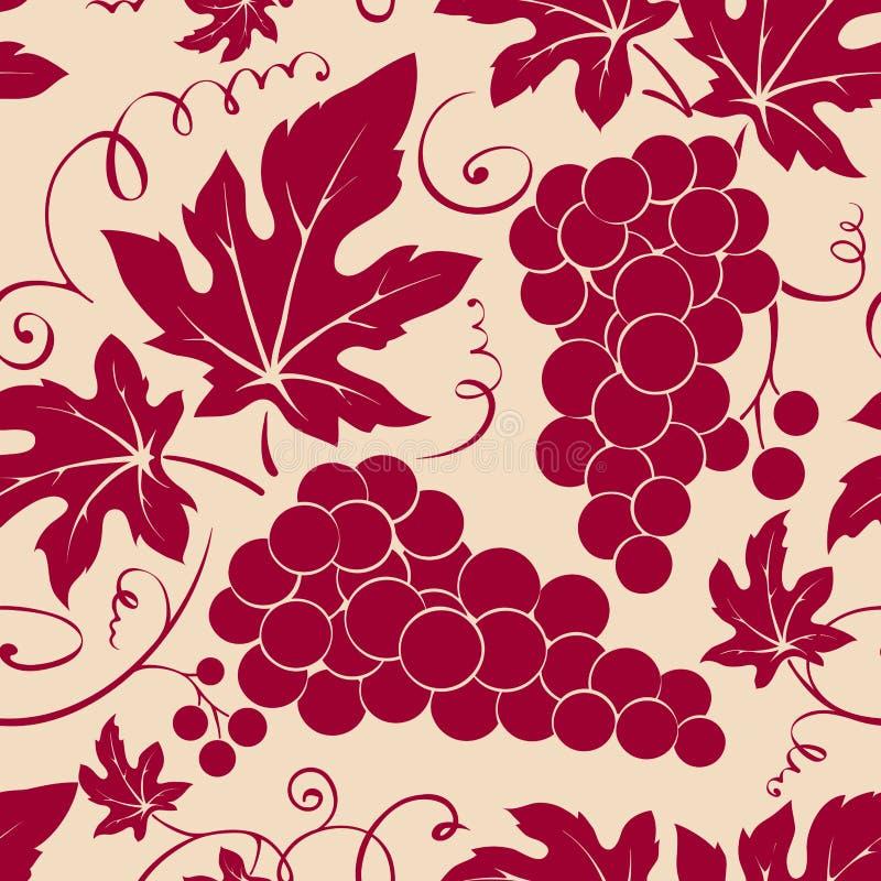 Teste padrão -- teste padrão floral da videira ilustração stock