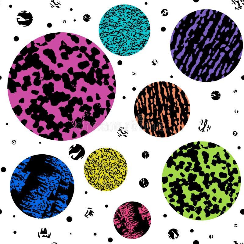 Teste padrão textured, colorido moderno sem emenda do grunge Fundo com o ornamento gráfico das combinações da multi-cor EPS10 ilustração do vetor
