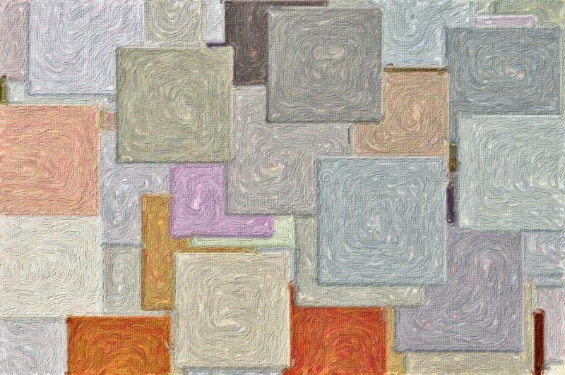 Teste padrão Textured dos quadrados ilustração royalty free