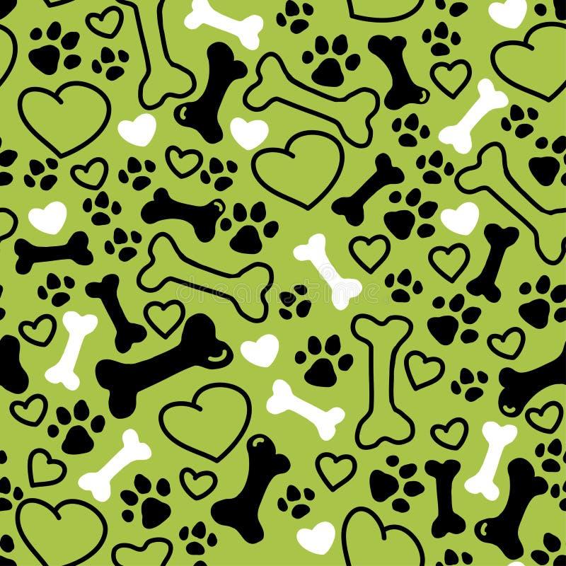 Teste padrão tirado do cão do vetor mão lisa sem emenda ilustração stock