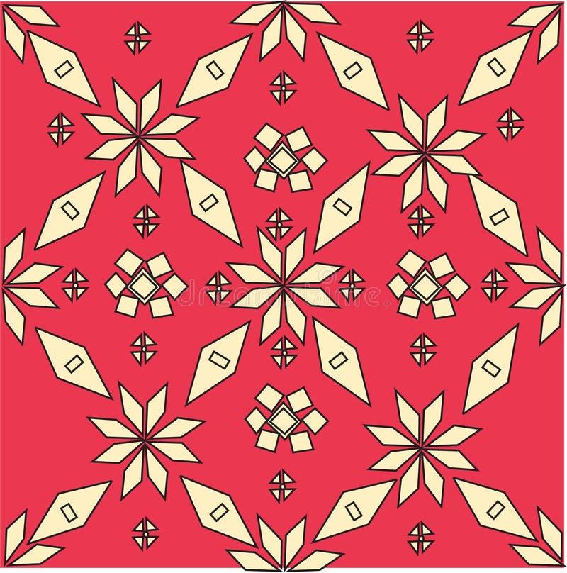 Teste padrão tradicional indonésio da tela de Songket ilustração do vetor
