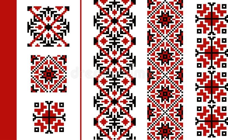 Teste padrão tradicional romeno ilustração stock