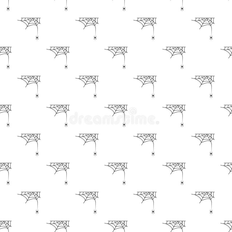 Teste padrão transversal da Web de aranha sem emenda ilustração royalty free