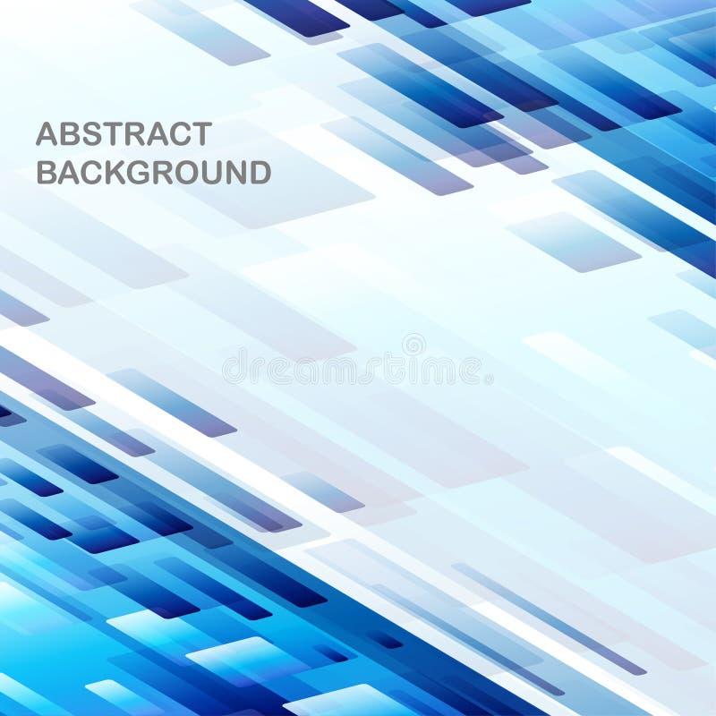 Teste padrão trapezoidalmente com fundo azul do inclinação ilustração do vetor