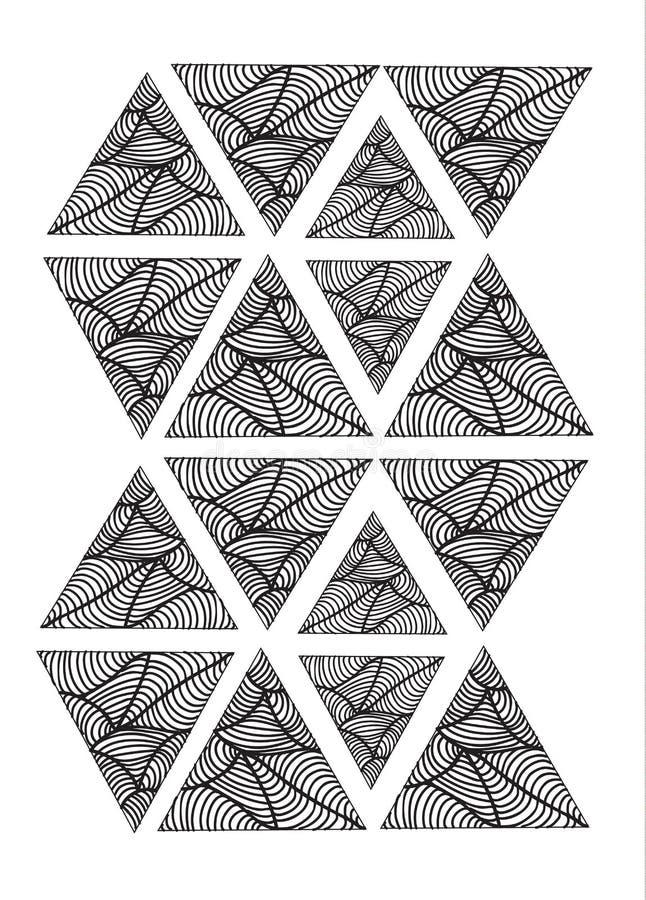 Teste padrão triangular imagens de stock