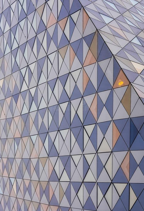 Teste padrão triangular abstrato fotografia de stock
