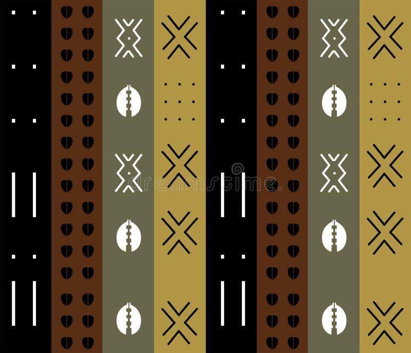 Teste padrão tribal étnico para o projeto de matéria têxtil ilustração royalty free