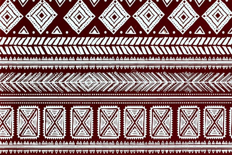 Teste padrão tribal abstrato ilustração stock