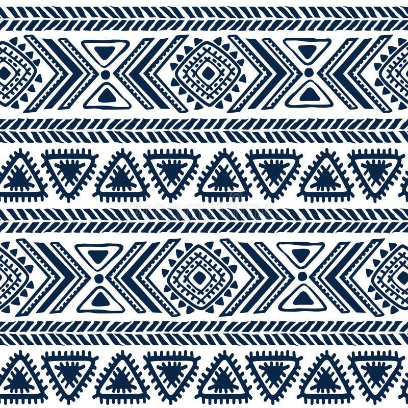 Teste padrão tribal abstrato ilustração do vetor
