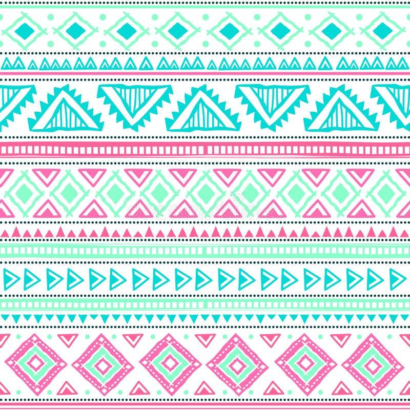 Teste padrão tribal abstrato ilustração royalty free
