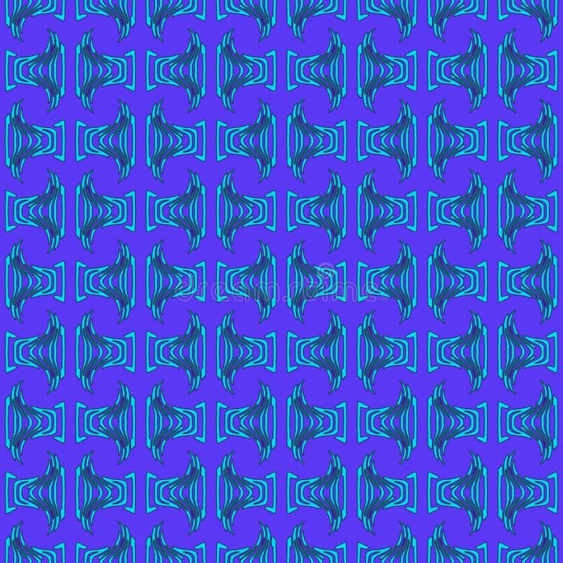 Teste padrão tribal de turquesa azul fotografia de stock royalty free