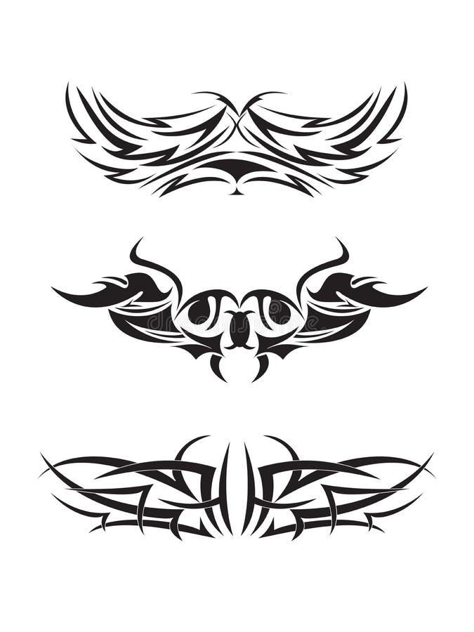 Teste padrão tribal do tatuagem ilustração stock
