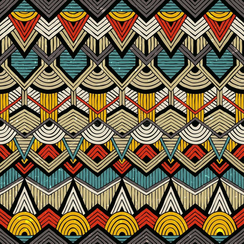Teste padrão tribal do vetor ilustração royalty free