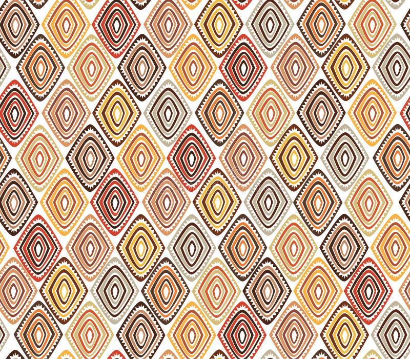 Teste padrão tribal sem emenda com um motivo do diamante de um tribo africano imagens de stock royalty free