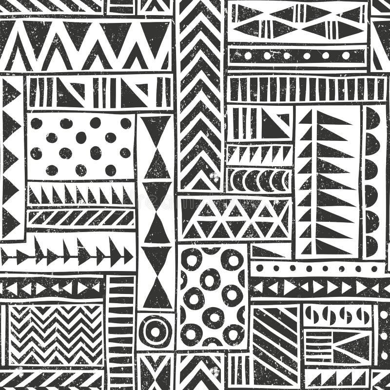 Teste padrão tribal sem emenda do vetor seamless ilustração do vetor