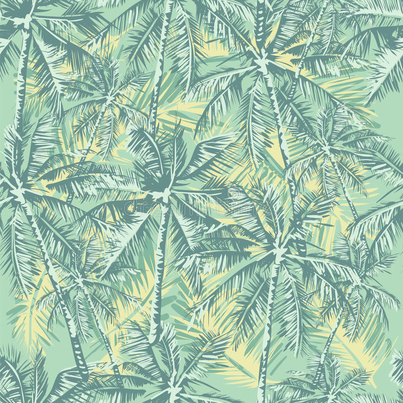 Teste padrão tropical ilustração royalty free