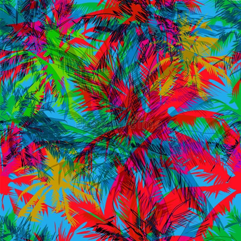 Teste padrão tropical 36 ilustração stock