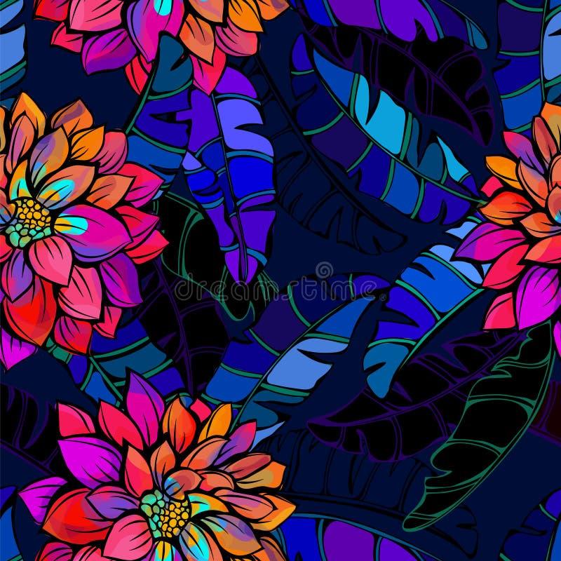 Teste padrão tropical abstrato ilustração do vetor