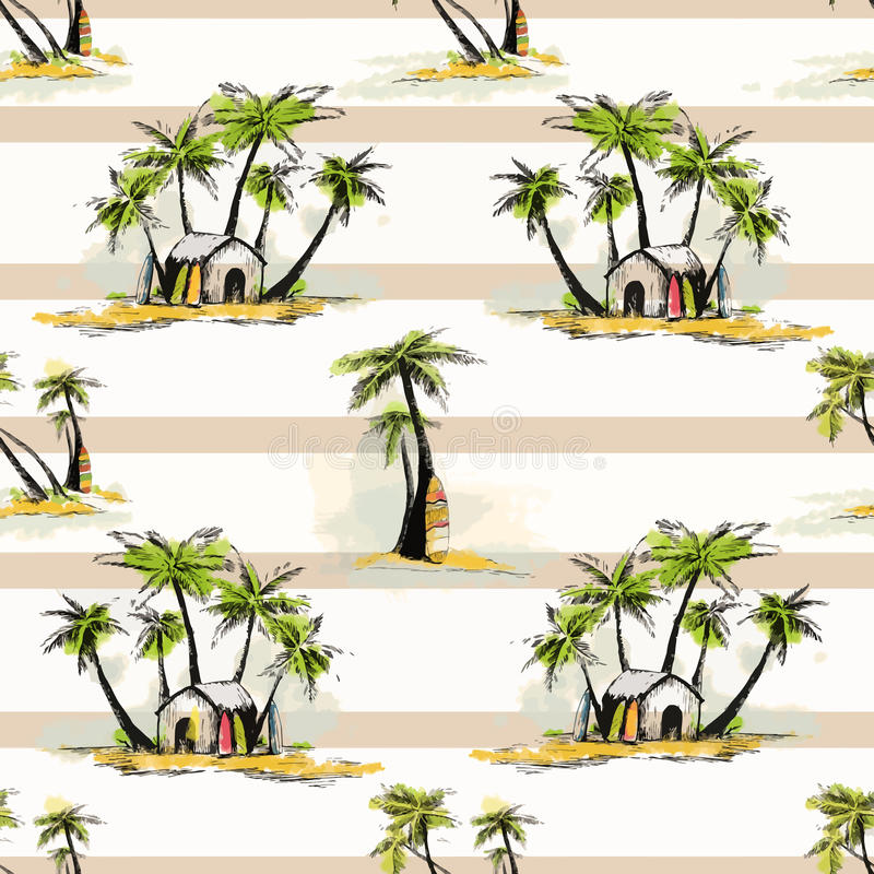 Teste padrão tropical da palma ilustração stock