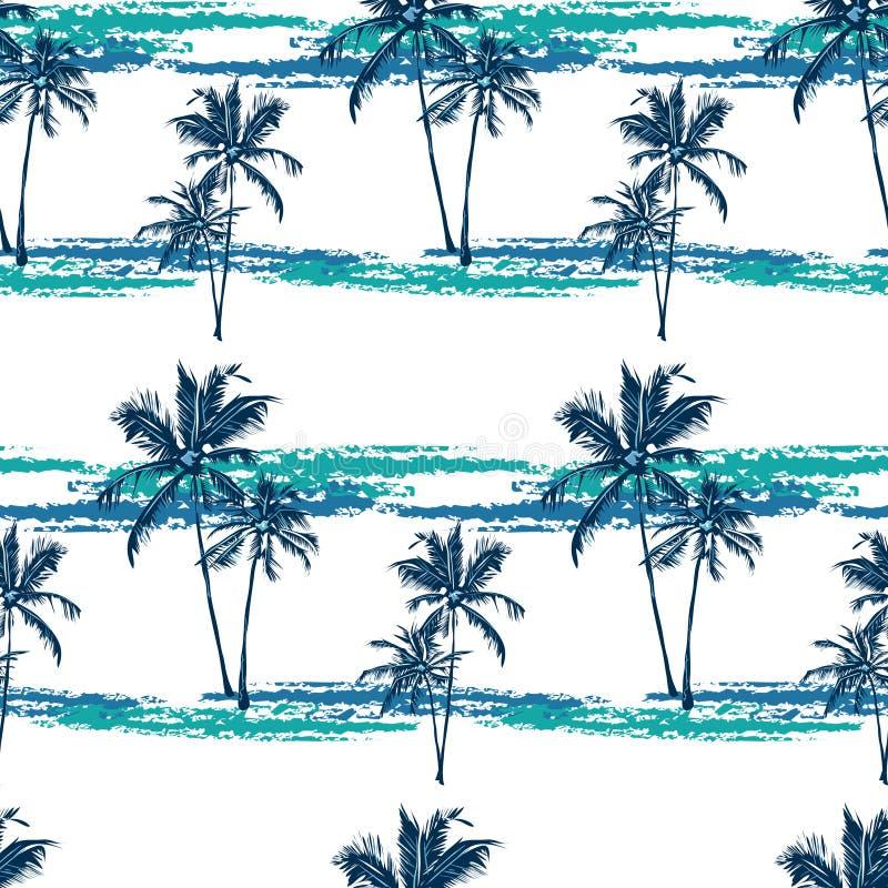 Teste padrão tropical das palmas ilustração royalty free