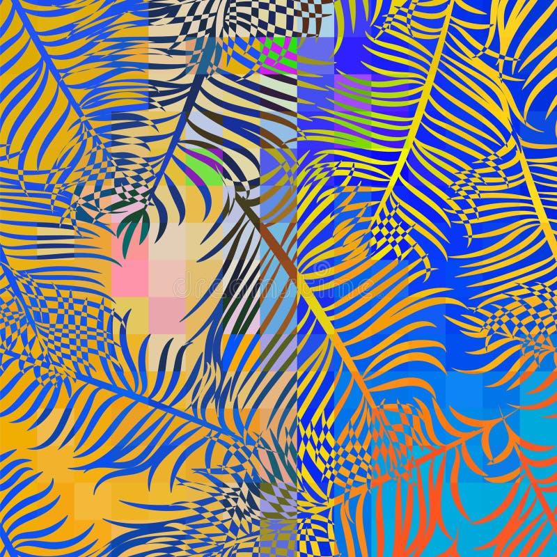Teste padrão tropical do vetor ilustração royalty free