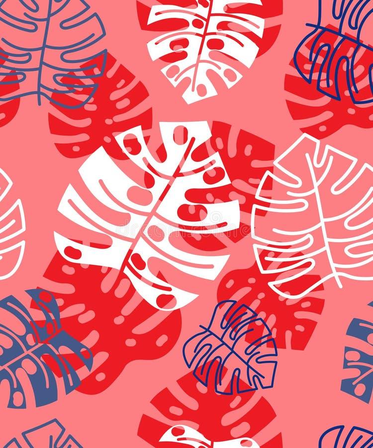 Teste padrão tropical floral do verão Fundo floral fotografia de stock royalty free
