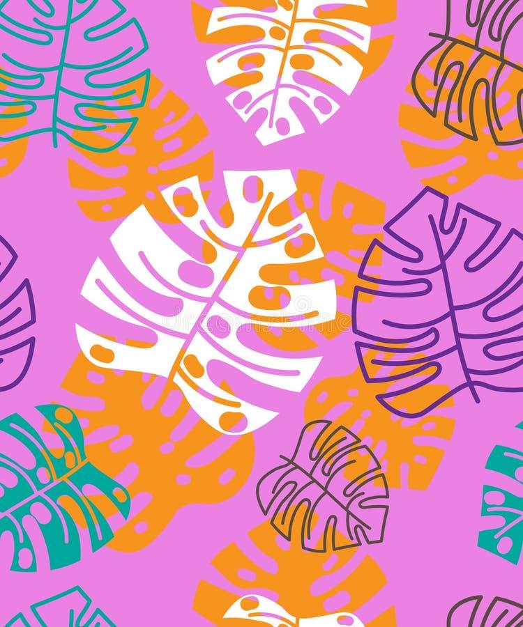 Teste padrão tropical floral do verão Fundo floral foto de stock