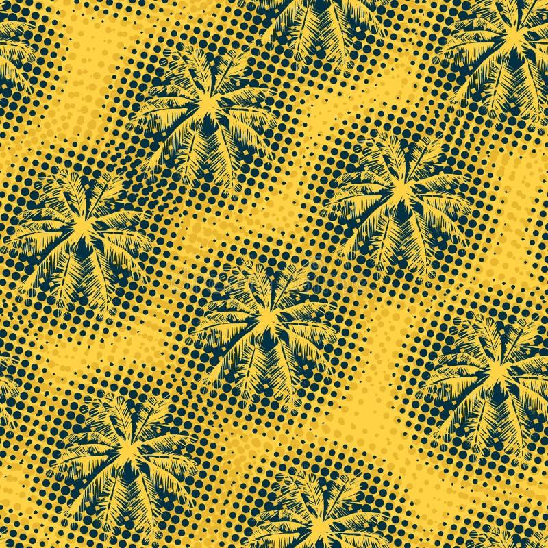 Teste padrão tropical sem emenda ilustração royalty free