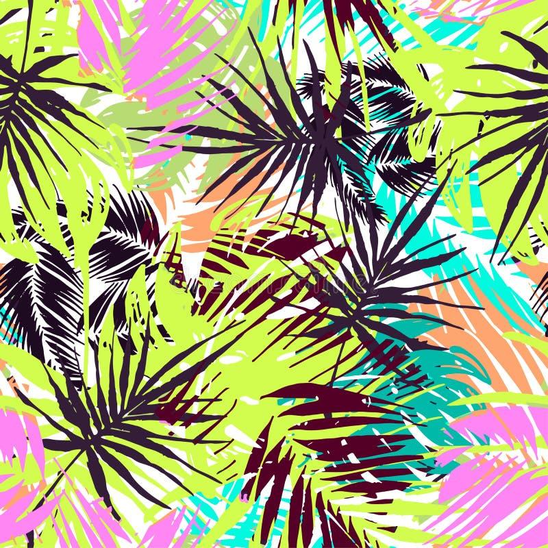 Teste padrão tropical sem emenda exótico ilustração royalty free