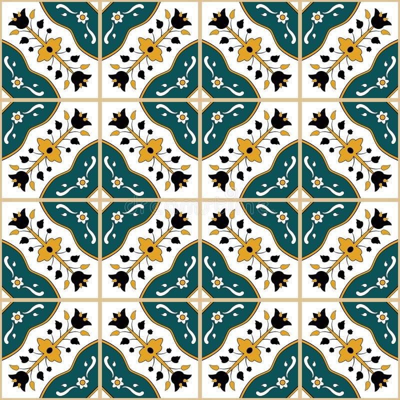 Teste padrão tunisino sem emenda do estilo ilustração royalty free