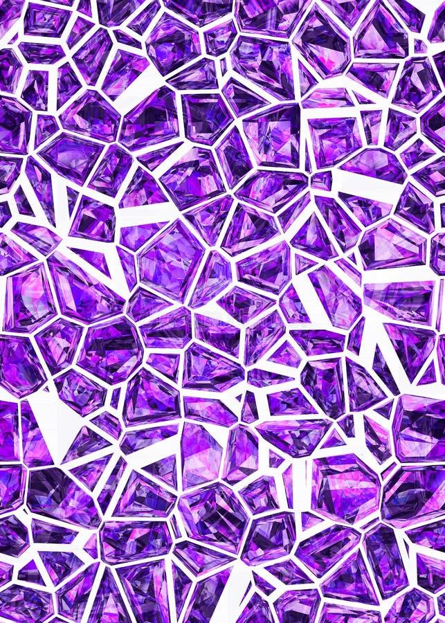 Teste padrão ultravioleta abstrato dos cristais ilustração do vetor