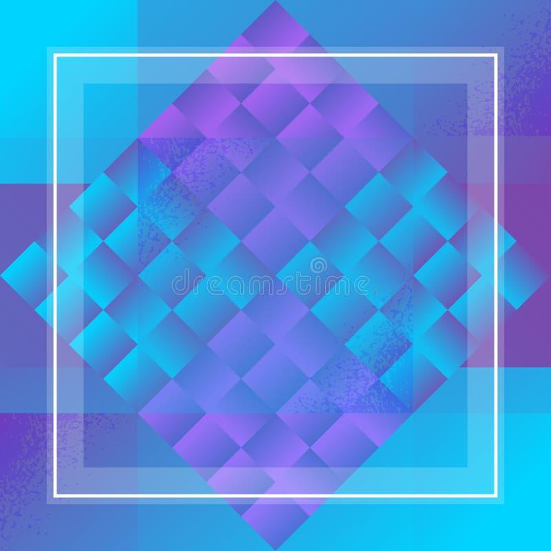 Teste padrão ultravioleta geométrico Tampa do tom do duo Fundo abstrato vibrante ilustração do vetor