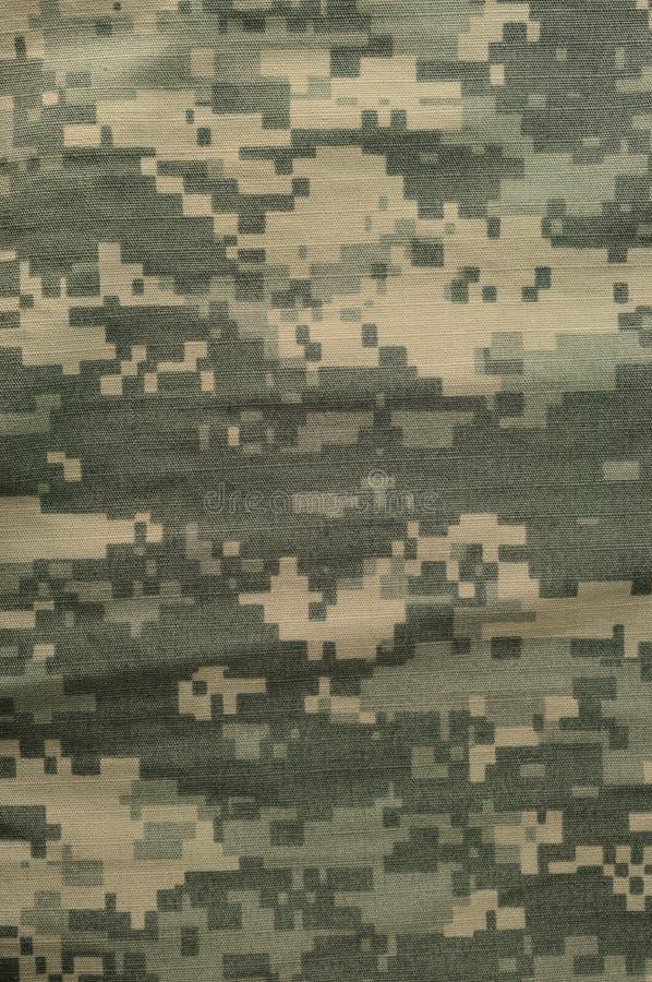 Teste padrão universal da camuflagem, camo digital uniforme do combate do exército, close up macro militar da ACU dos EUA, grande imagens de stock